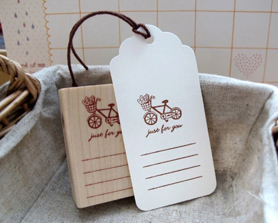 Bicycle Just For You Memo Stamp