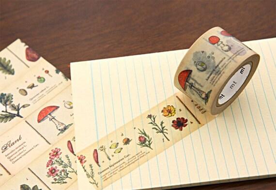 Vintage Vegetable Adhesive Masking Tape 1.2 inch