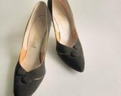 vintage shoes 1950s Chocolate Brown Suede