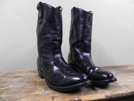 vintage black COWBOY BOOTS size 9.5