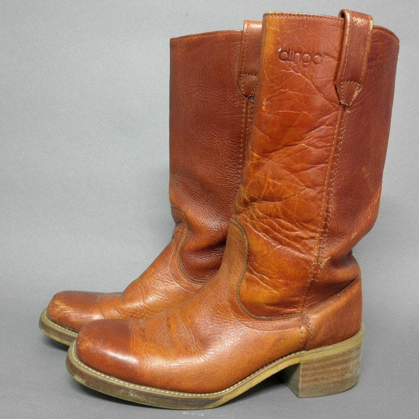 vintage 1970s dingo boots womens 9d