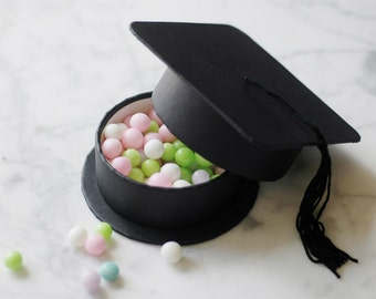 Set of 25 - Class of Graduation Hat Party Favor GIFT BOXES