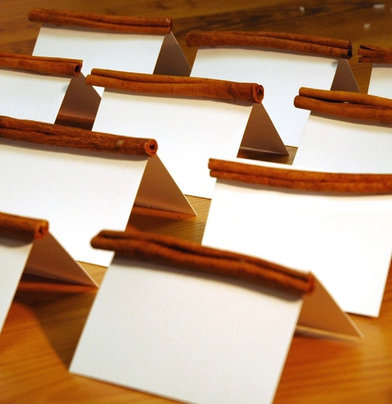 Cinnamon Stick Place card Holders Rustic Wedding Party Place card