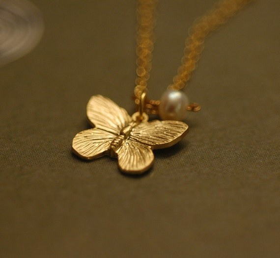 Butterfly Garden for your Flower Girl Jewlery Teen or Bridesmaids Garden Wedding or for Spring