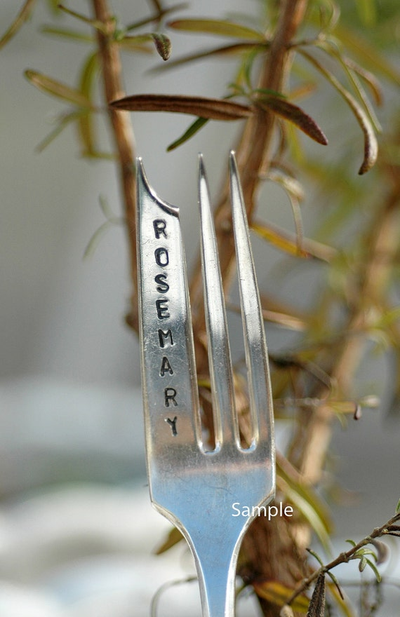 Gardener or Naturalist Design Your Own Silverware Garden Markers Place card Easter Mothers Day