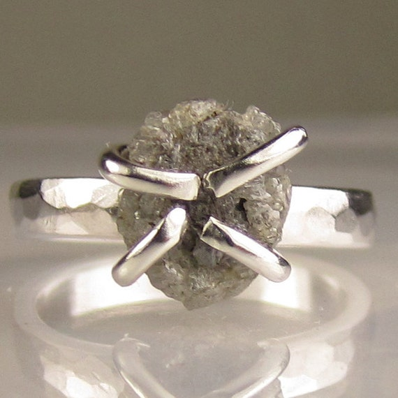 Rough Diamond Ring in Sterling - 2.75CTS