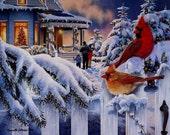 Cardinal Gift Tags/Mini Cards Sheet of 8