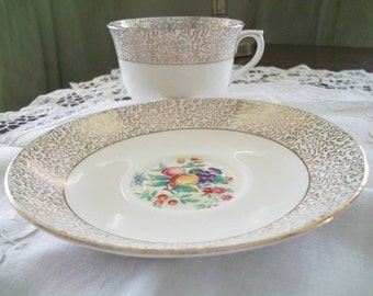 Vintage Vanderwood Bone China Cup and Saucer Made in England