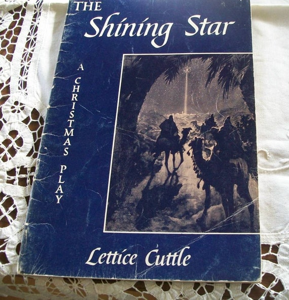 Antique Book The Shining Star  A Christmas Play by Lettice Cuttle 1954