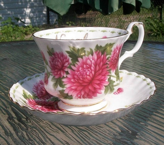 Vintage Royal Albert Flower of the Month Cup and Saucer November