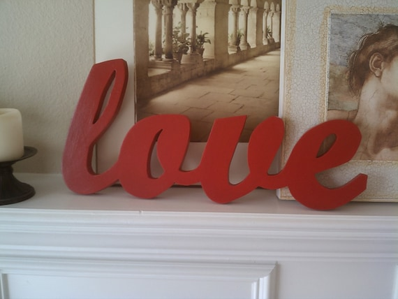 Love Sign in Barn Red