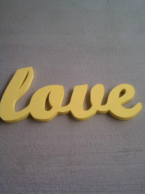 Bright Yellow Love Sign