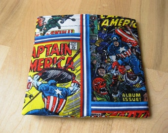 Captain America Reusable Snack Sandwich Bag  Baggie with water resistant lining