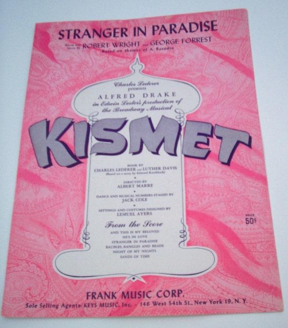 Stranger in Paradise from Kismet Vintage Sheet Music (Free Shipping)
