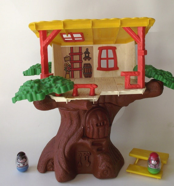 1970s Original Weeble Wobble Clubhouse Tree House