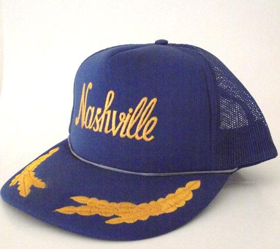 Vintage Royal Blue Nashville Trucker Hat