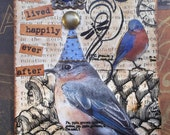 The King Bird - Another Whimsical Mixed Media Artist Trading Card /ACEO