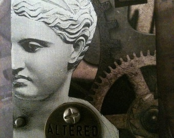 The Postmodern Statue - Another Steampunkesque Artist Trading Card By AlteredHead