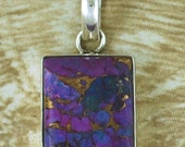 Pendant   Purple  Copper Turquoise