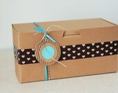 8 x 4 x 4  Kraft Cupcake or Gift Boxes set of 100