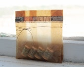 7.8 x 6 x 2.75  Set of 60 Biodegradable Kraft Wax Paper Bags