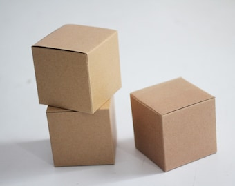 Kraft Gift Boxes 4x4x4 lot of 100