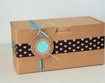 12- 8 x 4 x 4 inch  Kraft Cupcake or Gift Boxes