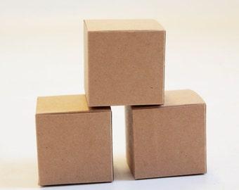 Kraft Natural Gift Box 3x3x3  Lot of 75