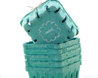 24 - 1/2 Pint Sized Berry Boxes made from Recycled Pulp
