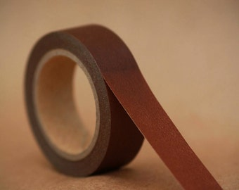 Brown Sugar Solid Washi Tape-  Single Roll 15 mm