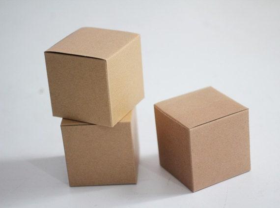 Kraft Gift Boxes 5x5x5 lot of 50