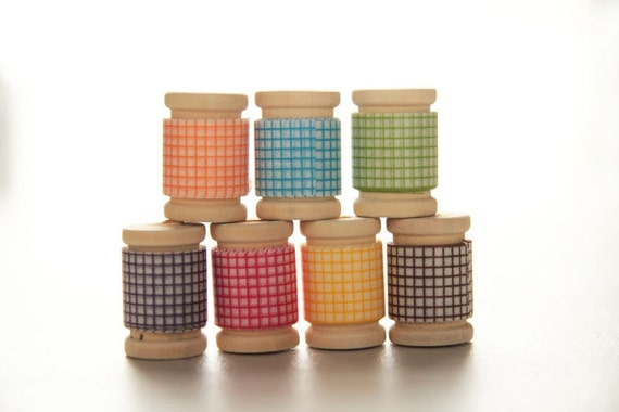 Japanese Washi Tape PRETTY Rainbow GRID Assortment|| Birthday Party Favors & Decor, Garland, Rainbow Decor