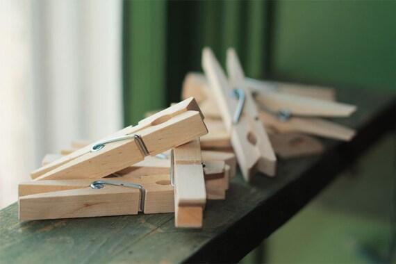Natural Wooden Clothespins Set of 12-Regular Size | Scrapbooking,  Stamping Photos, Hanging Wedding Decorations, Hanging Photos