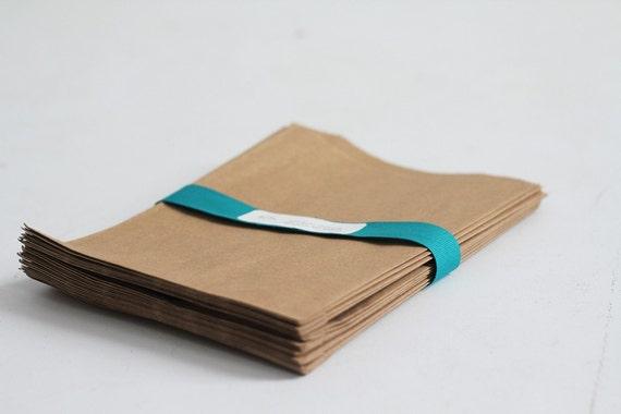 Kraft Paper Bags Lot of 25  4x6