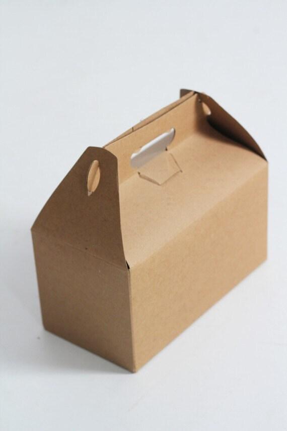 1 Sample box- 9 x 9 x 6  Kraft Natural Gable Gift Box