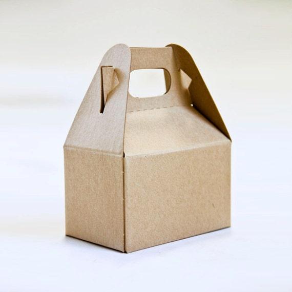 Mini Kraft Gable Box   4 X 2-1/2 X 2-1/2   Set of 10