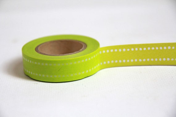 GREEN DOT Japanese Washi Tape- Single Roll 15mm