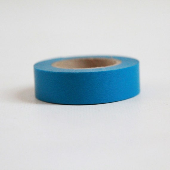 BLUE Japanese Washi Tape- Single Roll 15mm