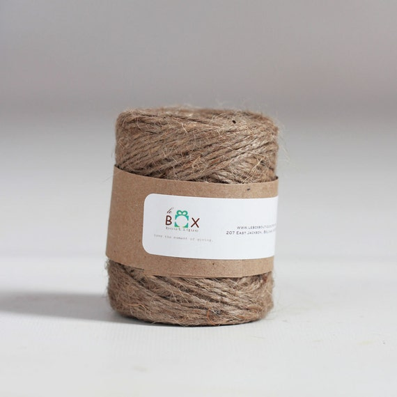 3 Rolls- Natural Jute Twine 65 yards each