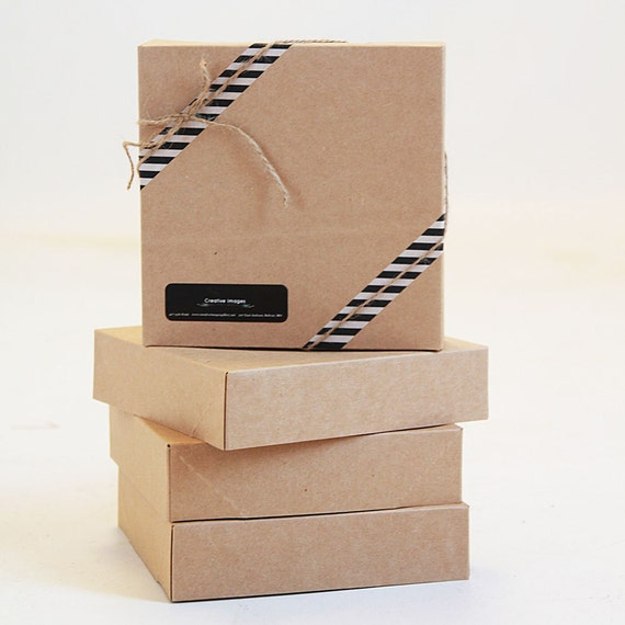 Set of 10-  NEW SIZE-12  x 12 x 2 Kraft  Gift Box 2 pc top and bottom