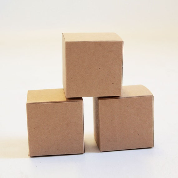 Kraft Natural Gift Box 3x3x3  Lot of 10