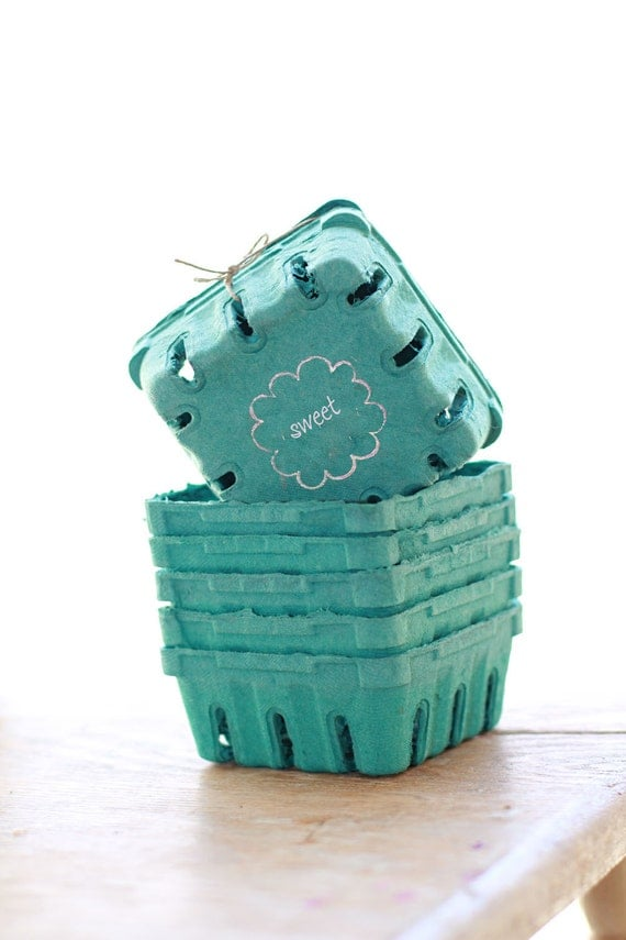 12 - 1/2 Pint Sized Berry Boxes made from Recycled Pulp