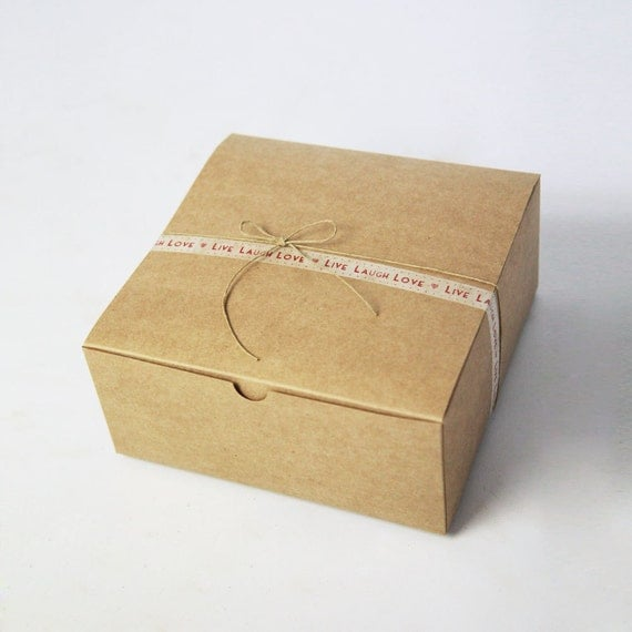Kraft Gift Boxes - size 8 x 8 x 3.5 inch -  Set of 15