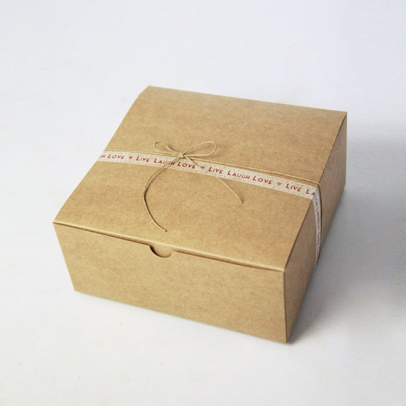 Kraft Gift Boxes size 8 x 8 x 3.5 inch Set of 15   ||Party Favor Boxes, Bridesmaid Boxes, Groomsmen Gift Box, Wedding Boxes, Cake Box