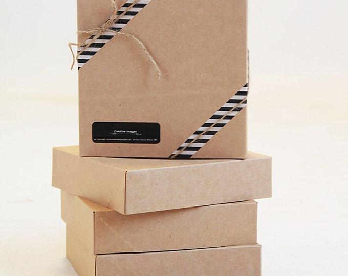 Set of 4- 19 x 14 x 4 EXTRA LARGE Kraft  Gift Box 2 pc top and bottom