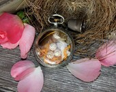 Pocket watch necklace - A STITCH IN TIME