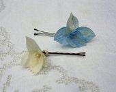 Hydrangea Hair Pins