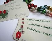 Vintage 1920s Art Deco Christmas Gift Tags