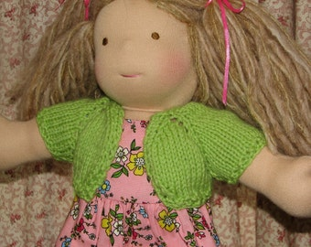 Doll Sweater Shrug Any Color for 8 to 22 inch Doll MADE to ORDER