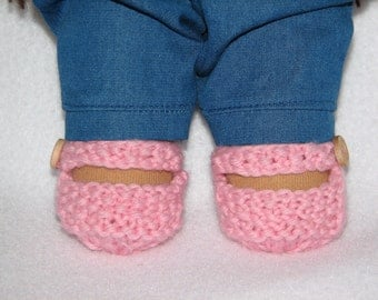 Doll Shoes for 10 inch Doll Knit in Any Color MADE to ORDER for dolls with stump feet